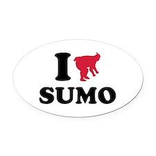 I love Sumo wrestling sports Oval Car Magnet