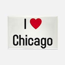 I Heart (Love) Chicago Rectangle Magnet