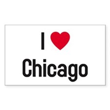 I Heart (Love) Chicago Rectangle Decal