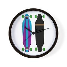 Longboard - Longboarding - No Txt Wall Clock
