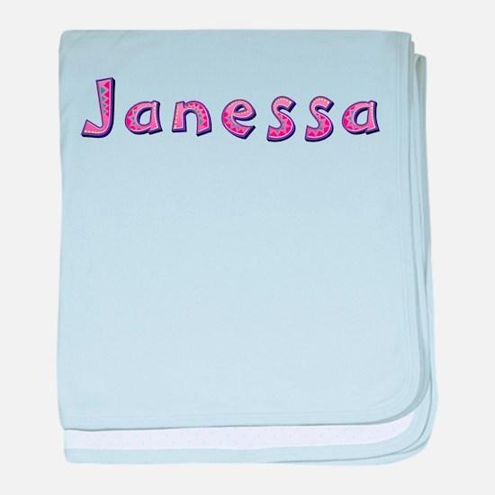Janessa Pink Giraffe baby blanket