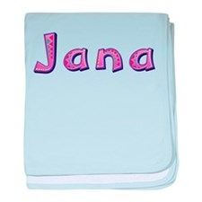 Jana Pink Giraffe baby blanket
