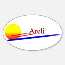 Areli Oval Decal
