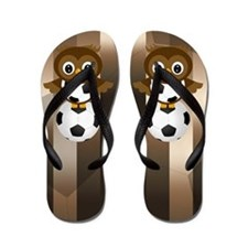 Soccer Owl Flip Flops