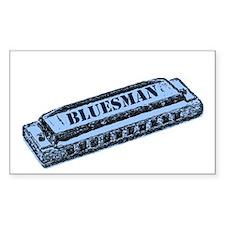 Bluesman Rectangle Decal