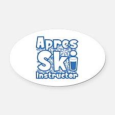 Apres Ski Instructor Oval Car Magnet