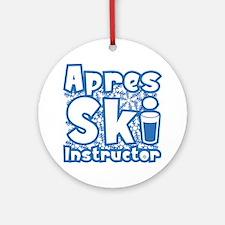 Apres Ski Instructor Ornament (Round)