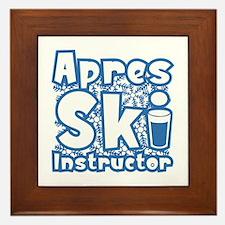 Apres Ski Instructor Framed Tile
