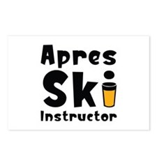 Apres Ski Instructor Postcards (Package of 8)