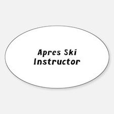 Apres Ski Instructor Decal