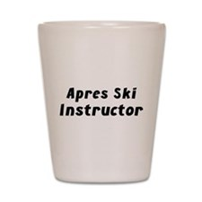 Apres Ski Instructor Shot Glass