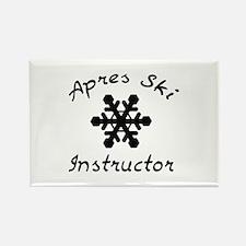 Apres Ski Instructor Rectangle Magnet