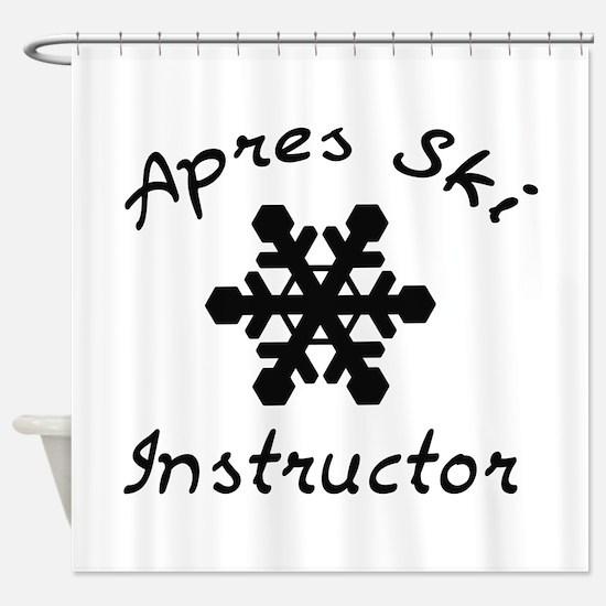 Apres Ski Instructor Shower Curtain