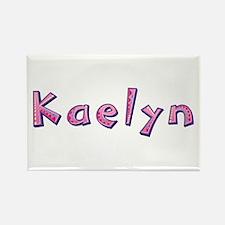 Kaelyn Pink Giraffe Rectangle Magnet