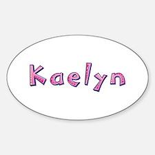 Kaelyn Pink Giraffe Oval Decal