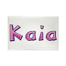 Kaia Pink Giraffe Rectangle Magnet