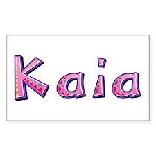 Kaia Pink Giraffe Rectangle Decal