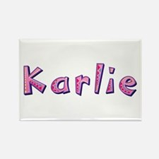 Karlie Pink Giraffe Rectangle Magnet