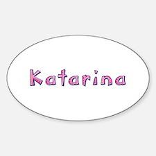 Katarina Pink Giraffe Oval Decal