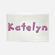 Katelyn Pink Giraffe Rectangle Magnet