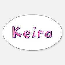 Keira Pink Giraffe Oval Decal