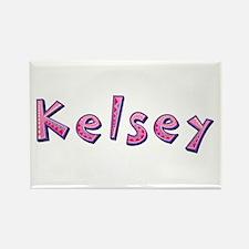 Kelsey Pink Giraffe Rectangle Magnet