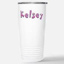 Kelsey Pink Giraffe Travel Mug