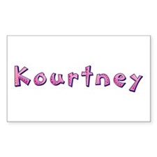 Kourtney Pink Giraffe Rectangle Decal