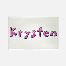 Krysten Pink Giraffe Rectangle Magnet