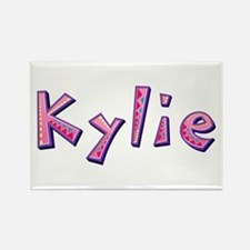 Kylie Pink Giraffe Rectangle Magnet