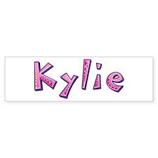 Kylie Pink Giraffe Bumper Bumper Sticker