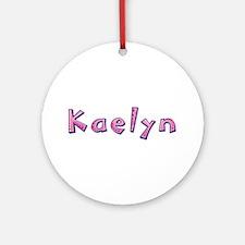 Kaelyn Pink Giraffe Round Ornament