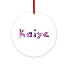 Kaiya Pink Giraffe Round Ornament