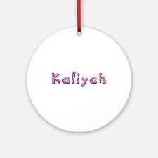 Kaliyah Pink Giraffe Round Ornament