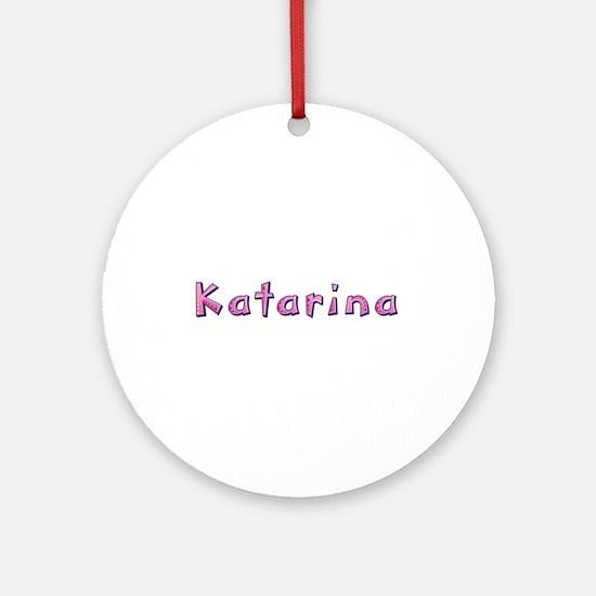 Katarina Pink Giraffe Round Ornament