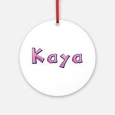 Kaya Pink Giraffe Round Ornament