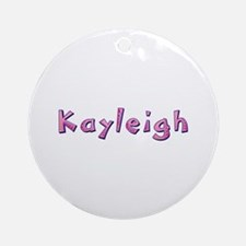 Kayleigh Pink Giraffe Round Ornament