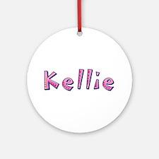 Kellie Pink Giraffe Round Ornament