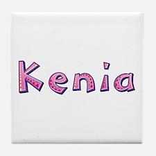 Kenia Pink Giraffe Tile Coaster
