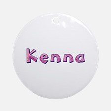 Kenna Pink Giraffe Round Ornament