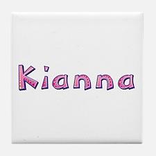 Kianna Pink Giraffe Tile Coaster