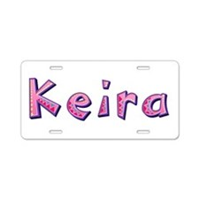 Keira Pink Giraffe Aluminum License Plate