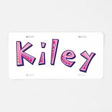 Kiley Pink Giraffe Aluminum License Plate