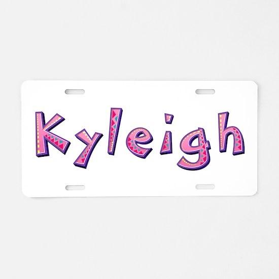Kyleigh Pink Giraffe Aluminum License Plate