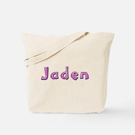 Jaden Pink Giraffe Tote Bag