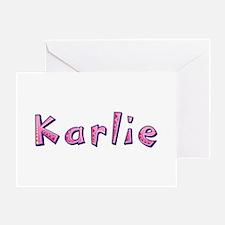 Karlie Pink Giraffe Greeting Card