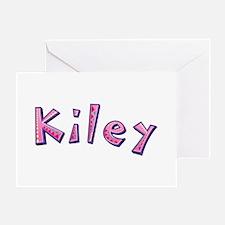 Kiley Pink Giraffe Greeting Card