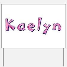 Kaelyn Pink Giraffe Yard Sign