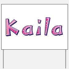 Kaila Pink Giraffe Yard Sign