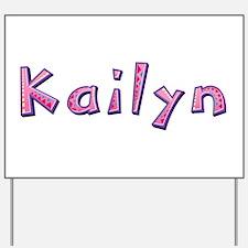 Kailyn Pink Giraffe Yard Sign